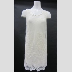 Free People  Lace Sleeveless Off White Dress